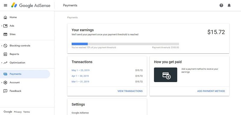 Google Adsense payments sri lanka
